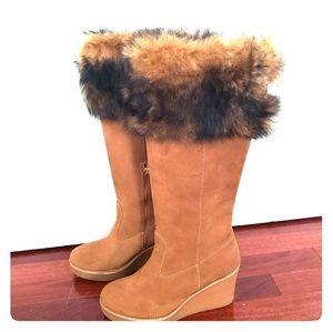 Ugg Fur Wedge Boots NWOB- Size 7.5